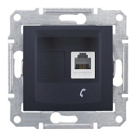 Telefonní zásuvka, grafitová Sedna SDN4101170 Schneider Electric
