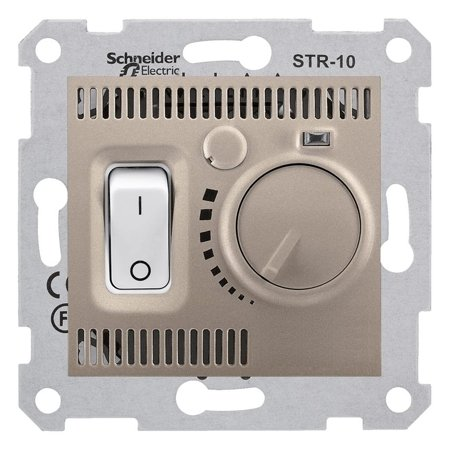 Teplotní regulátor saténová Sedna SDN6000168 Schneider Electric