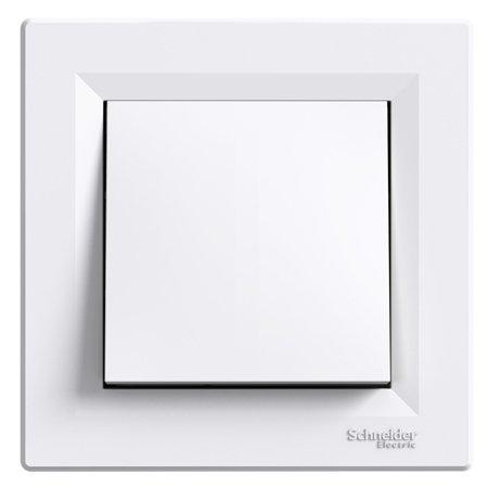 Tlačítko šroubové svorky s rámečkem, bílá Schneider Electric Asfora EPH0800321