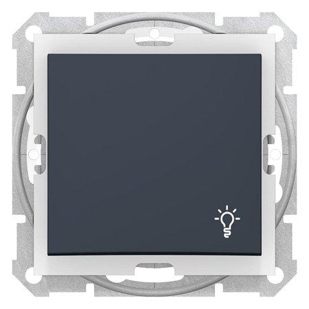 """Tlačítko """"světlo"""" IP44 grafitová Sedna SDN0900370 Schneider Electric"""