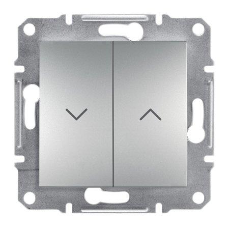 Tlačítko žaluziové šroubové svorky bez rámečku, hliník Schneider Electric Asfora EPH1300361