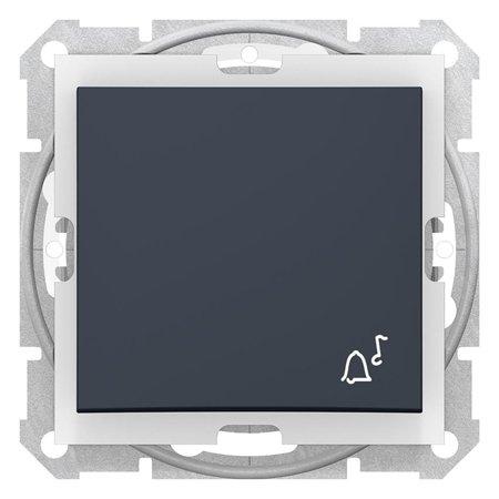 "Tlačítko ""zvonek"" IP44 grafitová Sedna SDN0800370 Schneider Electric"