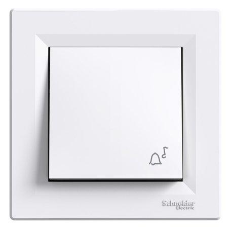 "Tlačítko ""zvonek"" bílá Asfora Schneider Electric EPH0800121"