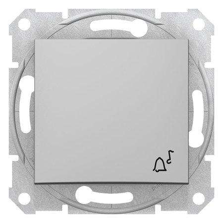 "Tlačítko ""zvonek"" hliník Sedna SDN0800160 Schneider Electric"