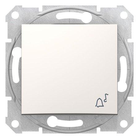"""Tlačítko """"zvonek"""" krémová Sedna SDN0800123 Schneider Electric"""
