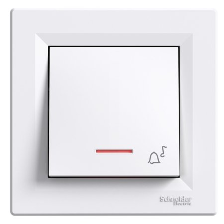 Tlačítko zvonek s podsvícením a rámečkem, bílá Schneider Electric Asfora EPH1700121