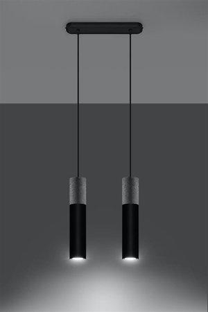 Visící lampa BORGIO 2 černá GU10 SL.0651 Sollux