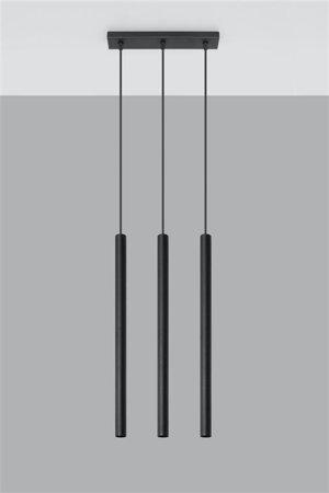 Visící lampa PASTELO 3xG9 černá Sollux SL.0470