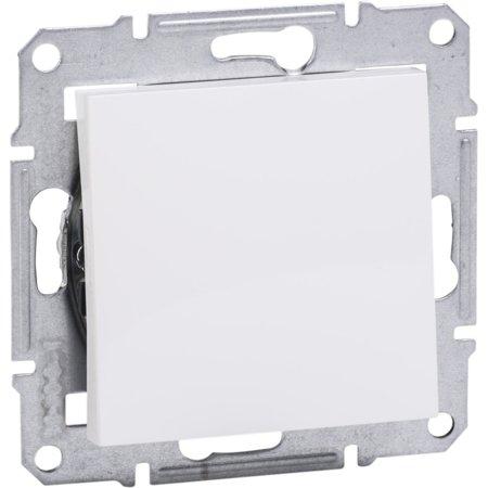 Vypínač 1-pólový bez rámečku, bílá Schneider Electric Asfora EPH0101421