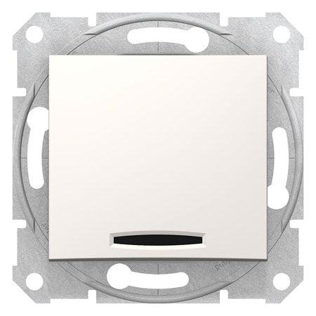 Vypínač 1-pólový se signalizací zapnutí krémová Sedna SDN0400323 Schneider Electric
