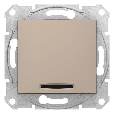 Vypínač 1-pólový se signalizací zapnutí saténová Sedna SDN0400368 Schneider Electric