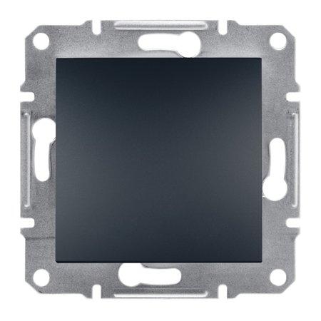Vypínač 1-pólový šroubové svorky bez rámečku, antracit Schneider Electric Asfora EPH0100371