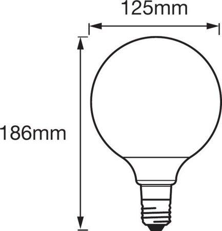Žárovka vlákno LED stmívatelná GOLD 5,5W E27 SMART+ Filament Globe Dimmable Bluetooth OSRAM