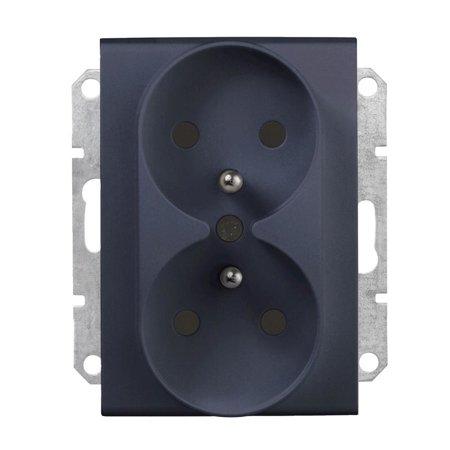 Zásuvka 2x2P+Z do rámečku grafitová Sedna SDN2801970 Schneider Electric