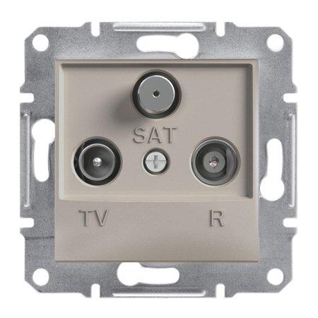 Zásuvka R-TV-SAT koncová (1dB) bez rámečku, hnědá Schneider Electric Asfora EPH3500169