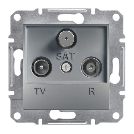 Zásuvka R-TV-SAT koncová (1dB) bez rámečku, ocel Schneider Electric Asfora EPH3500162