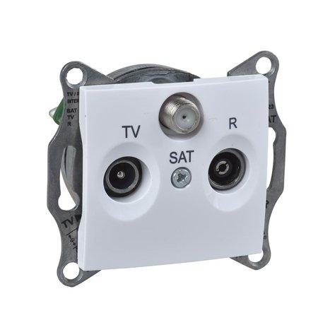 Zásuvka R/TV/SAT koncová bílá Sedna SDN3501521 Schneider Electric