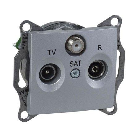 Zásuvka R/TV/SAT koncová hliník Sedna SDN3501360 Schneider Electric