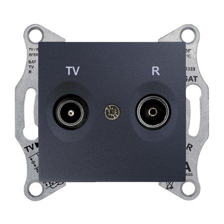 Zásuvka R/TV průchozí 8dB, grafitová Sedna SDN3301370 Schneider Electric