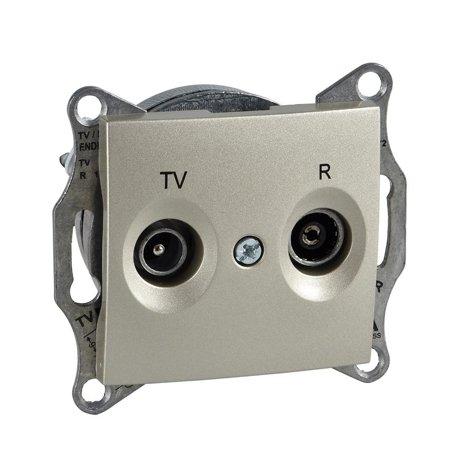 Zásuvka R/TV průchozí 8dB saténová Sedna SDN3301368 Schneider Electric