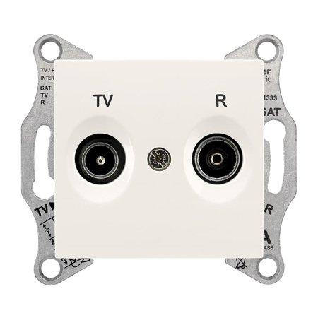 Zásuvka R/TV průchozí krémová Sedna SDN3301823 Schneider Electric
