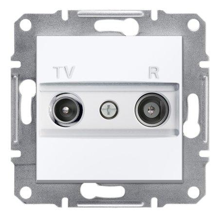 Zásuvka RTV koncová bez rámečku, bílá Schneider Electric Asfora EPH3300721