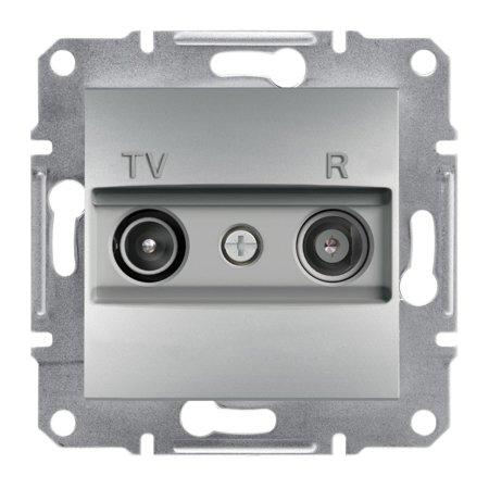 Zásuvka RTV koncová bez rámečku, hliník Schneider Electric Asfora EPH3300161