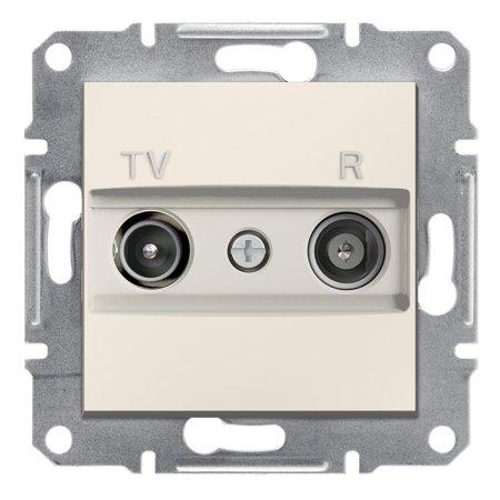 Zásuvka RTV koncová bez rámečku, krémová Schneider Electric Asfora EPH3300723