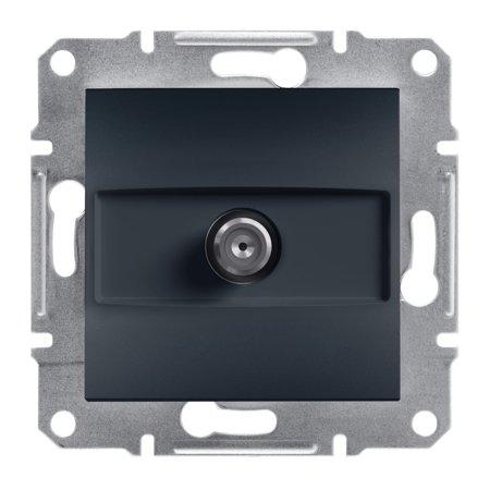 Zásuvka SAT průchozí bez rámečku, antracit Schneider Electric Asfora EPH3700271