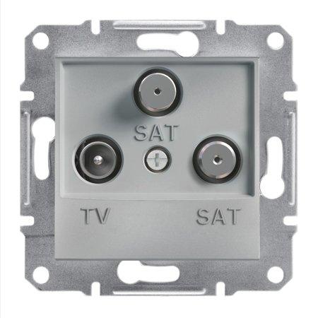 Zásuvka TV-SAT-SAT koncová (1dB) bez rámečku, hliník Schneider Electric Asfora EPH3600161