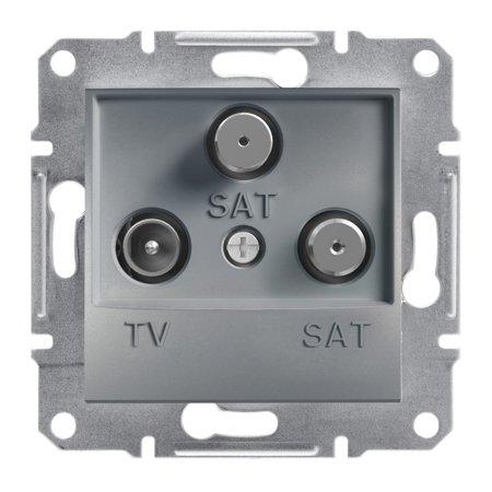 Zásuvka TV-SAT-SAT koncová (1dB) bez rámečku, ocel Schneider Electric Asfora EPH3600162