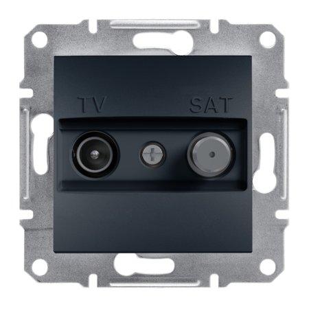 Zásuvka TV-SAT koncová (1dB) bez rámečku, antracit Schneider Electric Asfora EPH3400171