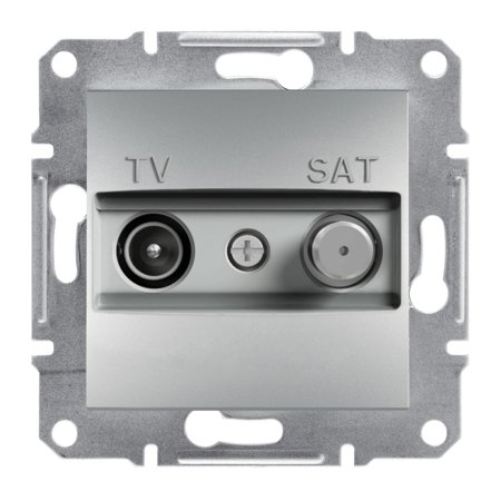 Zásuvka TV-SAT koncová (1dB) bez rámečku, hliník Schneider Electric Asfora EPH3400161