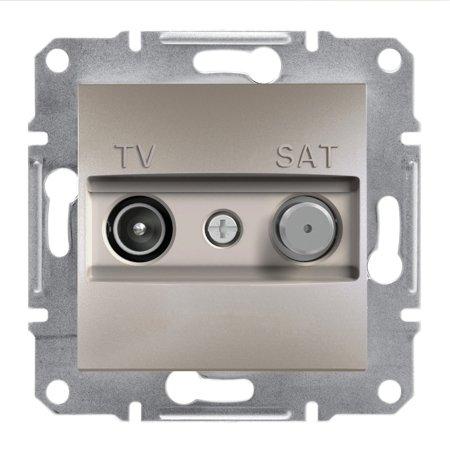 Zásuvka TV-SAT koncová (1dB) bez rámečku, hnědá Schneider Electric Asfora EPH3400169