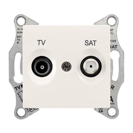 Zásuvka TV/SAT průchozí 4dB krémová Sedna SDN3401923 Schneider Electric