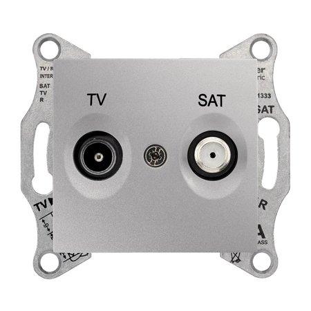 Zásuvka TV/SAT průchozí 8dB hliník Sedna SDN3401260 Schneider Electric