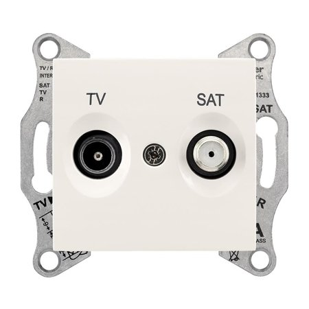 Zásuvka TV/SAT průchozí 8dB krémová Sedna SDN3401223 Schneider Electric