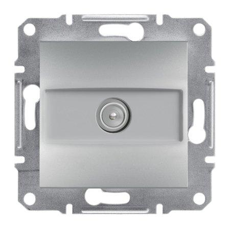 Zásuvka TV průchozí (4dB) bez rámečku, hliník Schneider Electric Asfora EPH3200261