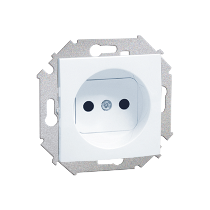 Zásuvka jednonásobná bez uzemnění (modul) šroubové koncovky, bílá Kontakt Simon 1591401-030