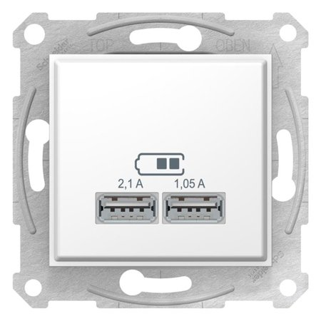 Zásuvka nabíječky dvojité USB bílá Sedna SDN2710221 Schneider Electric