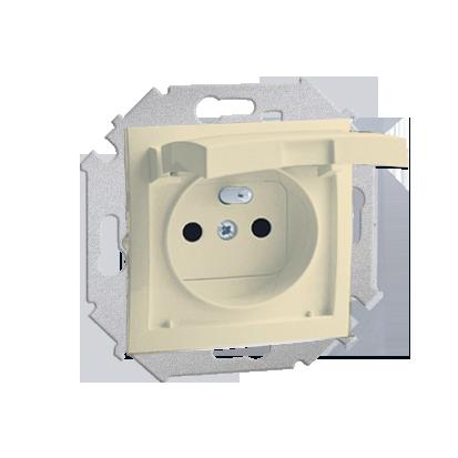 Zásuvka s uzemněním pro verzi IP44 béžová Kontakt Simon 1591940-031