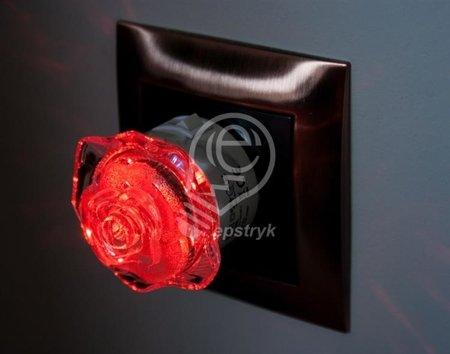 Zásuvková lampa, róża, 0,4W 4 LED HL993L 02252 Horoz