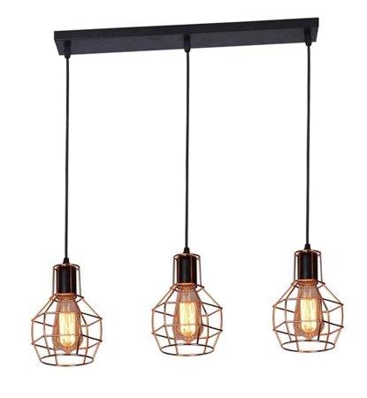 Závěsná lampa Carron 3 line měď Azzardo MD50148-3L