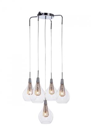 Závěsná lampa Elektra 5 chrom Azzardo MD15002028-5A