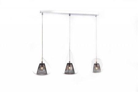 Závěsná lampa Gordon 3 line černá průhledná Azzardo MD16002005-3A