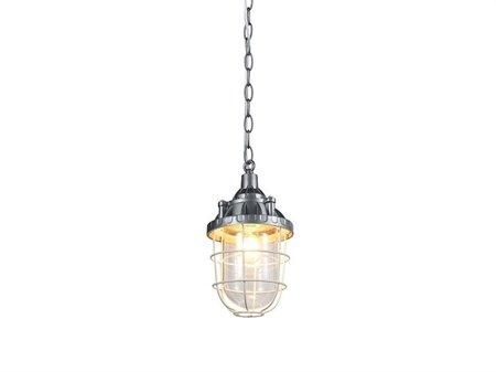 Závěsná lampa Howe stříbrná průhledná Azzardo BP-1628