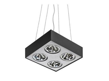 Závěsná lampa Paulo 4 12V černá hliník Azzardo GM5400