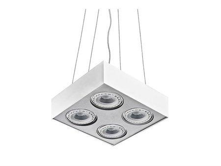 Závěsná lampa Paulo 4 230V LED 7W bílá hliník Azzardo GM5400
