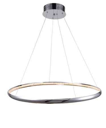 Závěsná lampa obruč Brighton 1 chrom Azzardo MP57043-1