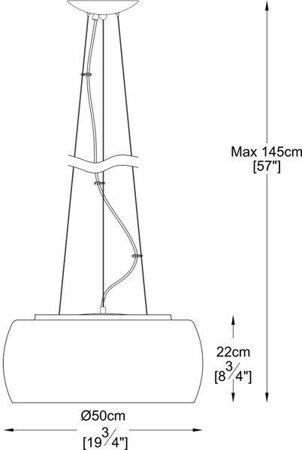 Závěsná lampa stříbrná transparentní 50cm Zuma Line Crystal Pendant P0076-06X-F4FZ